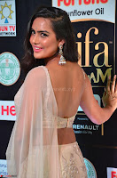 Prajna Actress in backless Cream Choli and transparent saree at IIFA Utsavam Awards 2017 0019.JPG