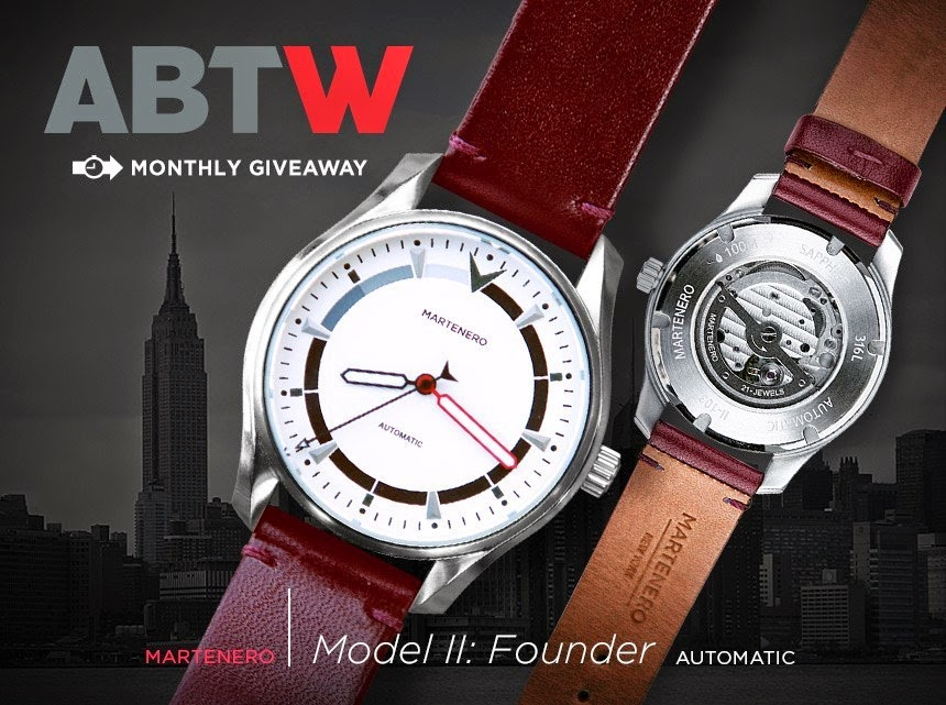 Martenero Model II: Founder WATCH GIVEAWAY