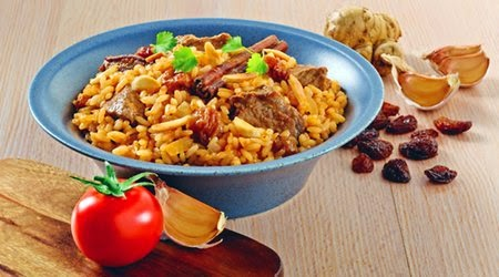 Moroccan lamb rice with almonds recipe