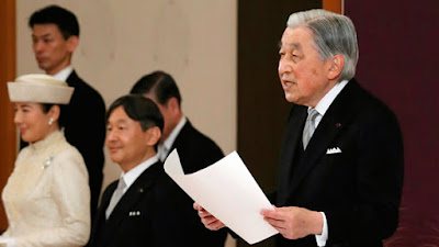 Imperador Akihito em seu último discurso