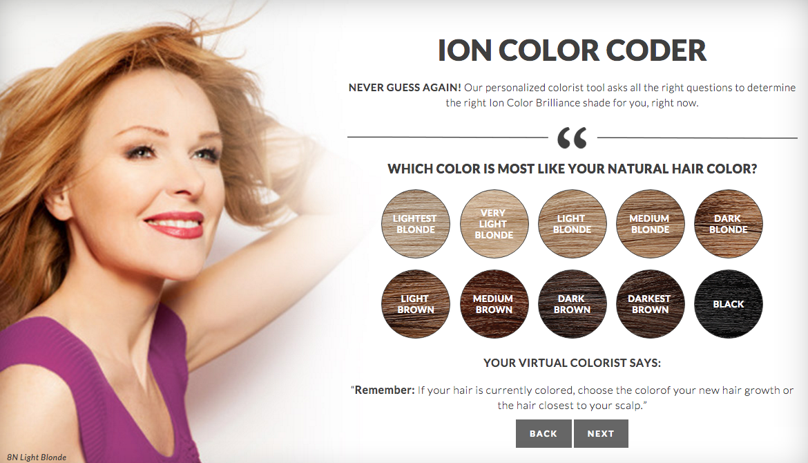 Ion at home hair color coder quiz do it yourself nubias nonsense step 4 you have to decide what hair color direction youre going in i selected blonde therefore all products and tips they recommend should help me solutioingenieria Image collections