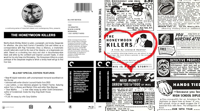 The Honeymoon Killers (1970) Bluray Cover