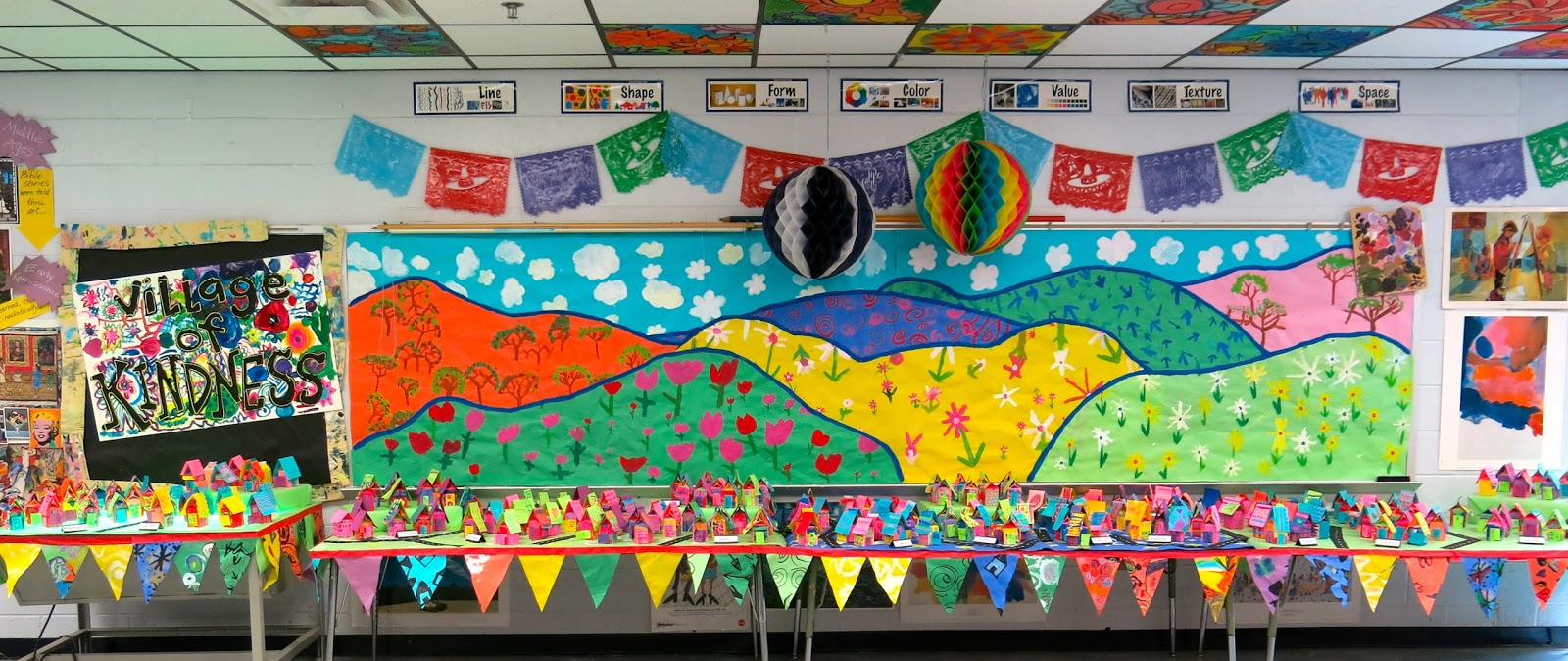 Cassie stephens in the art room school wide for Community mural ideas
