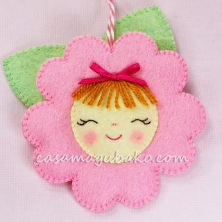 Felt Flower Tutorial by casamagubako.com