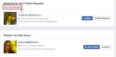 otkazivanje poslatog zahteva za prijateljstvo