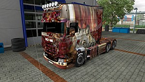 Wolf Wood skin for Scania RJL