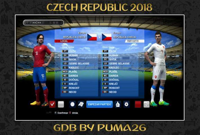 Czech Republic 2018 Kit PES 2013