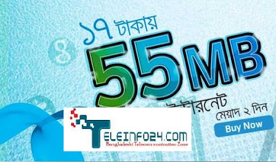 Grameenphone 55 MB Data Only 17 Tk GP
