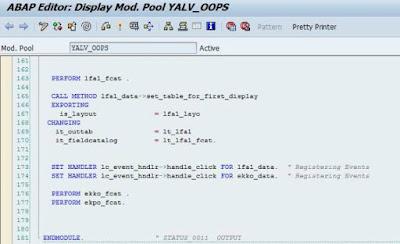 Simple event handling in ABAP OOPS