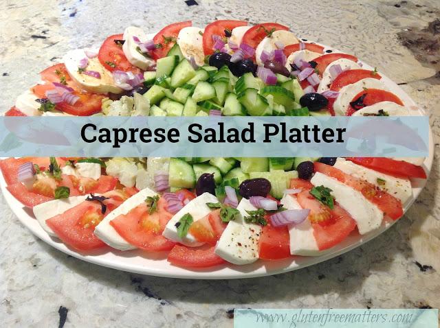 Large caprese salad platter www.realfoodblogger.com