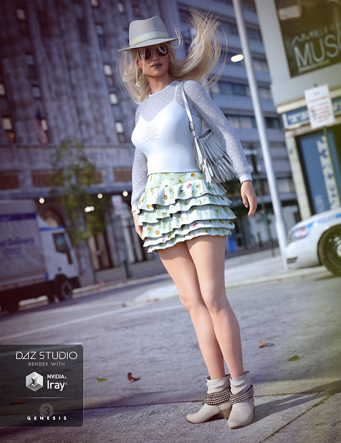 Sunny Summer Day Outfit for Genesis 3 Female