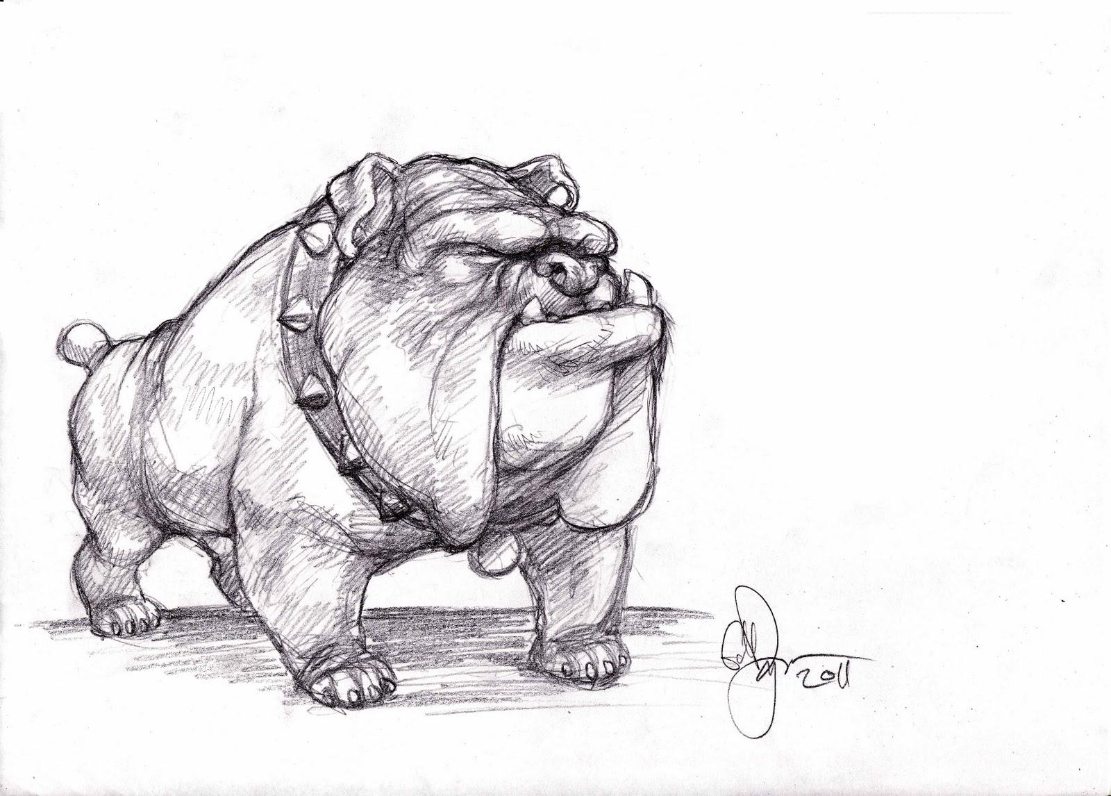The Art of Ed Dyer.: Bulldog Sketch