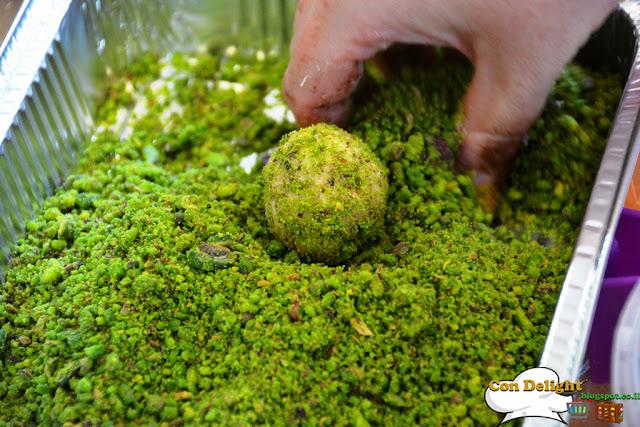 halva balls with pistachio