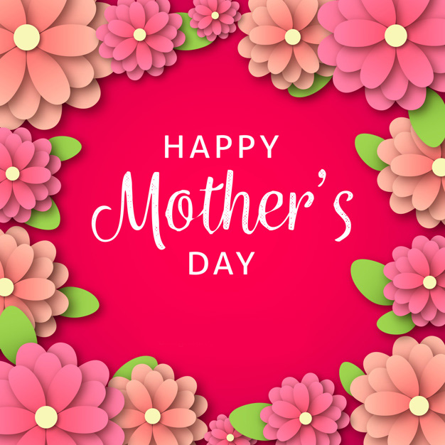Happy mother's day background in paper style Free Vector