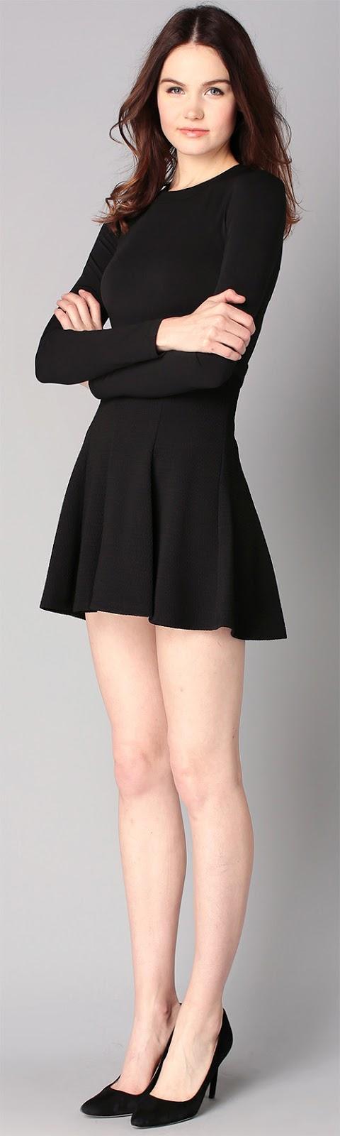 Robe jupe noire courte BCBGeneration