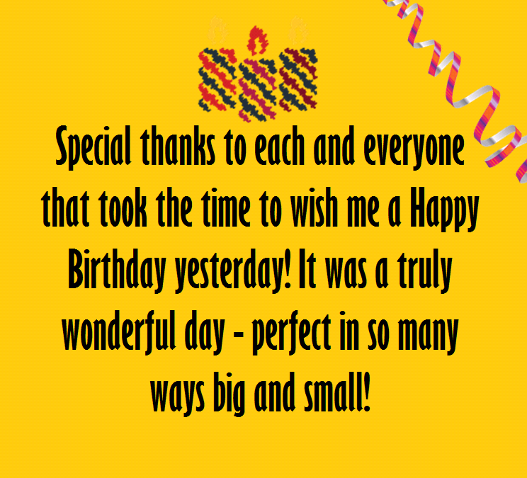 Say thank you birthday wishes happy birthday wishes thank you message for birthday wishes on facebook m4hsunfo