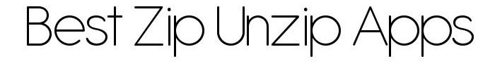 Zip-Unzip Apps for iOS