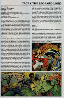 Señor del Leopardo Ficha Marvel Comics