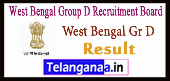 WBGDRB -West Bengal Group D Recruitment Board Merit List 2017 Result