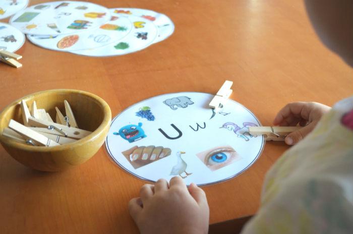 juego imprimible descargable círculos conciencia fonológica lectoescritura
