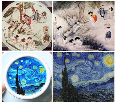 Obras de arte sobre el café por Lee Kang Bin