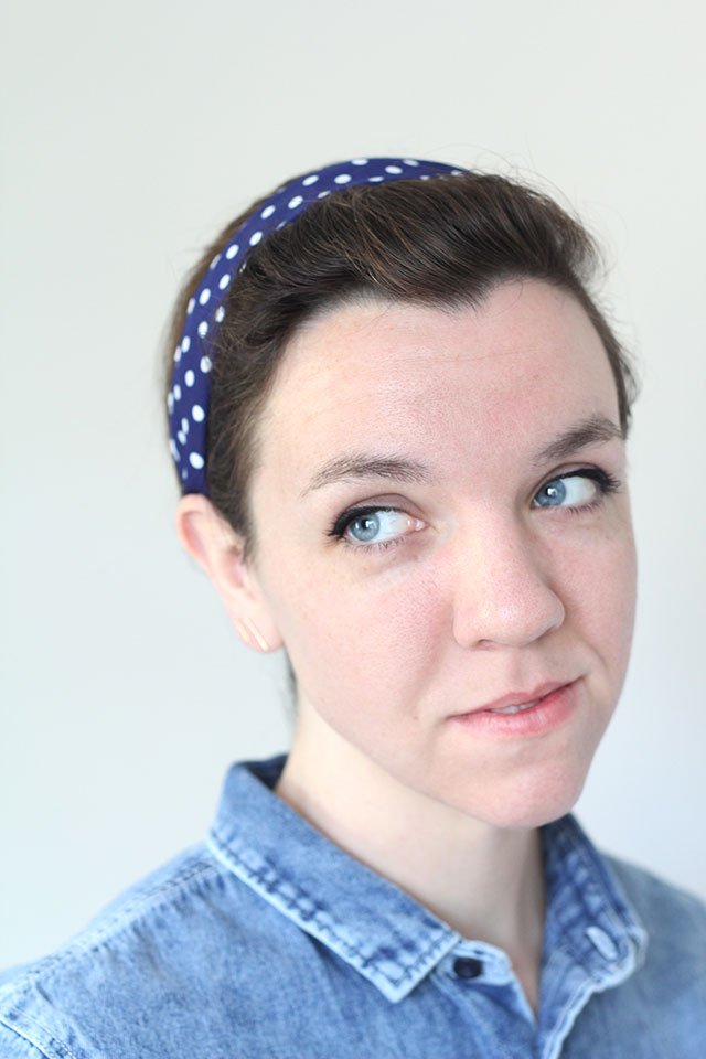 How to make a headband out of non-stretchy material