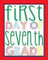 Seventh Grade Printable