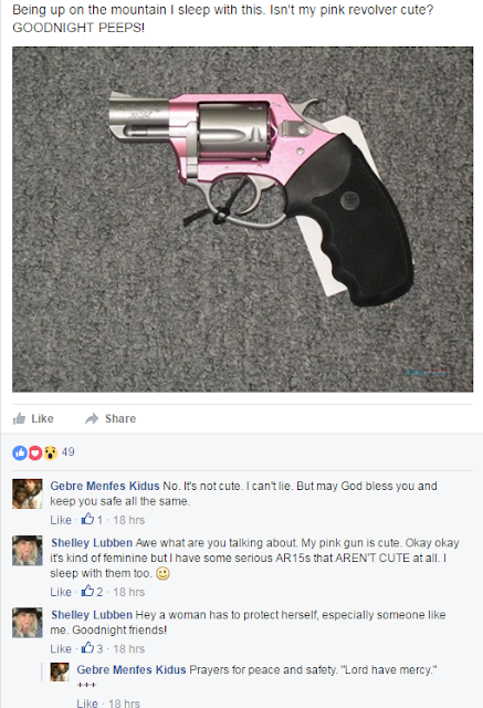 Shelley Lubben's pink handgun