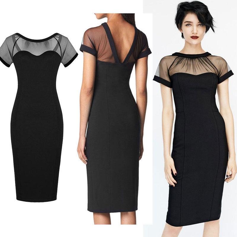 Vestidos de coctel de noche negro