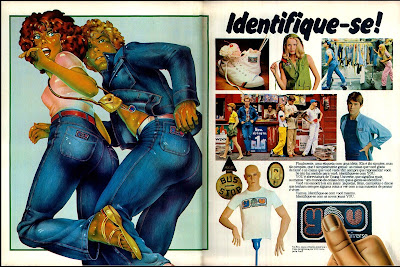 propaganda  Jeans You - 1977. Propaganda década de 70. Anos 70.  Moda anos 70; propaganda anos 70; história da década de 70; reclames anos 70; brazil in the 70s; Oswaldo Hernandez