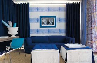 Decoración con azul