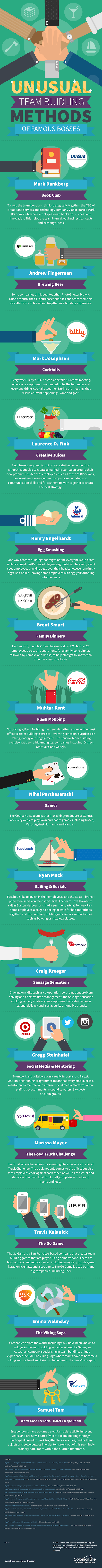 The Unusual Team Building Methods of Famous Bosses - #infographic