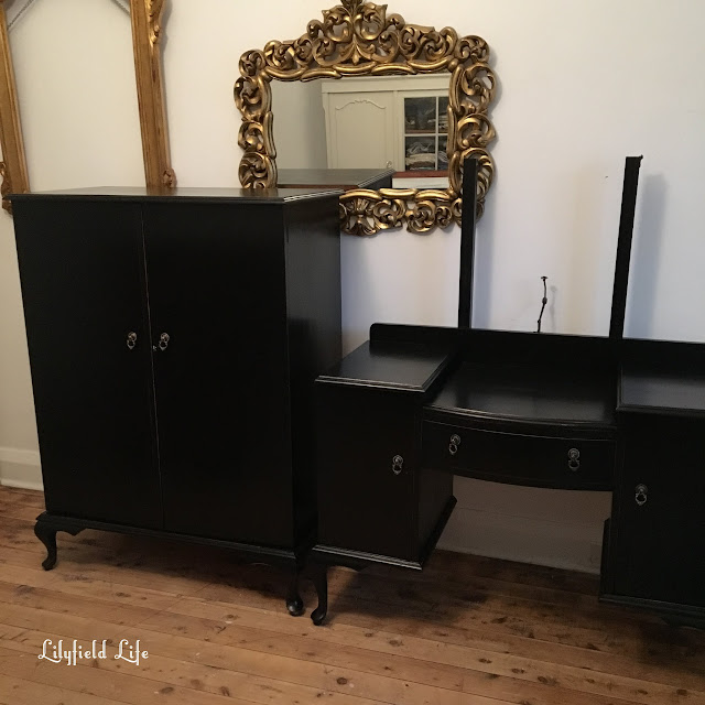 custom painted dressing table and wardrobe Lilyfield Life