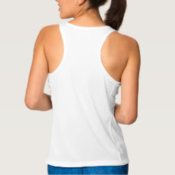 Custom Womens Performance Workout Tank Top - Back