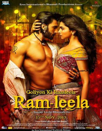 Poster Of Ram-Leela 2013 Hindi 475MB BRRip 720p ESubs HEVC Watch Online Free Download Worldfree4u