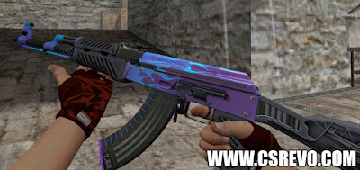 Skin AK47 - Road Hog Purple - HD CS 1.6, skins, ak 47