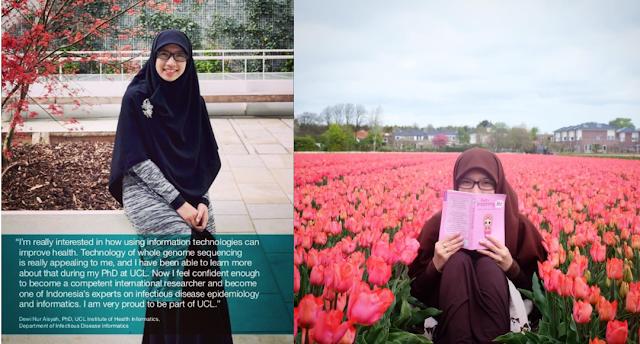 Perempuan Indonesia Berjilbab Lebar di Brosur Edukasi Universitas di London, Siapakah Dia?