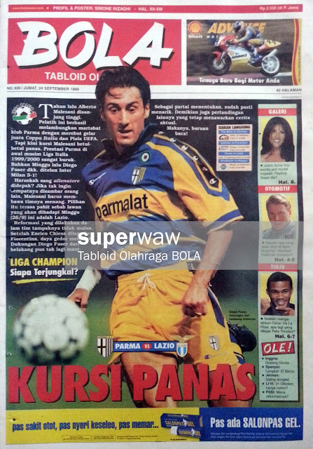 Tabloid BOLA: KURSI PANAS
