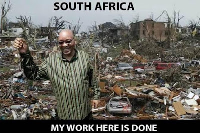 Zuma South Africa My work here is done photo