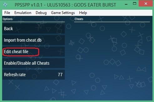 Cara Memasang Code Cheat Pada Emulator PPSSPP