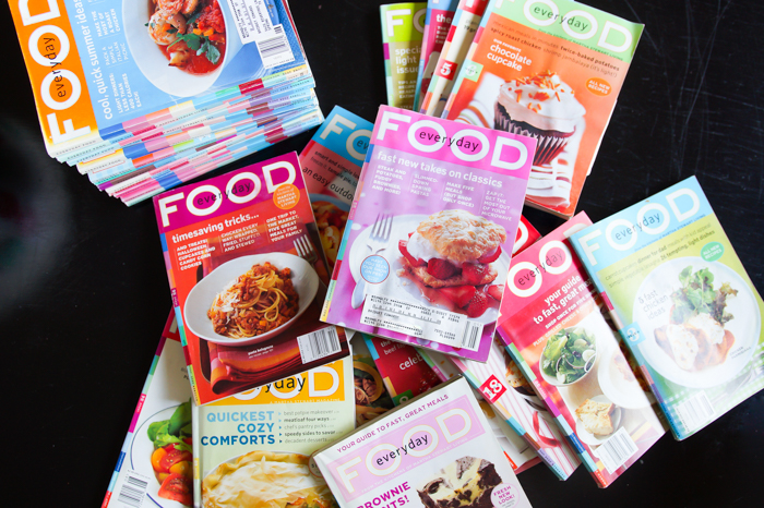 How to Organize Your Old Martha Stewart Everyday Food Magazines ♥ bakeat350.net