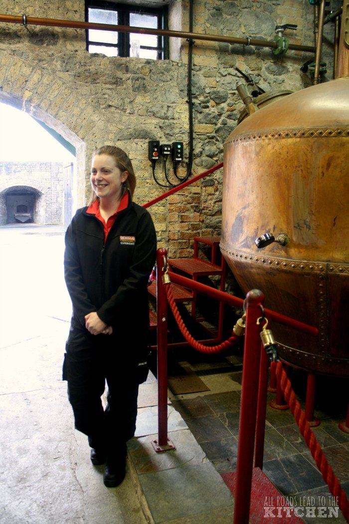 One of the youngest whiskey distillers, Andrina Fitzgerald talks us through the pot stilling process.