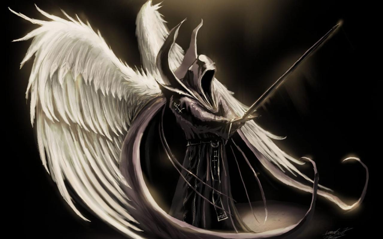 scary image of angel - photo #3