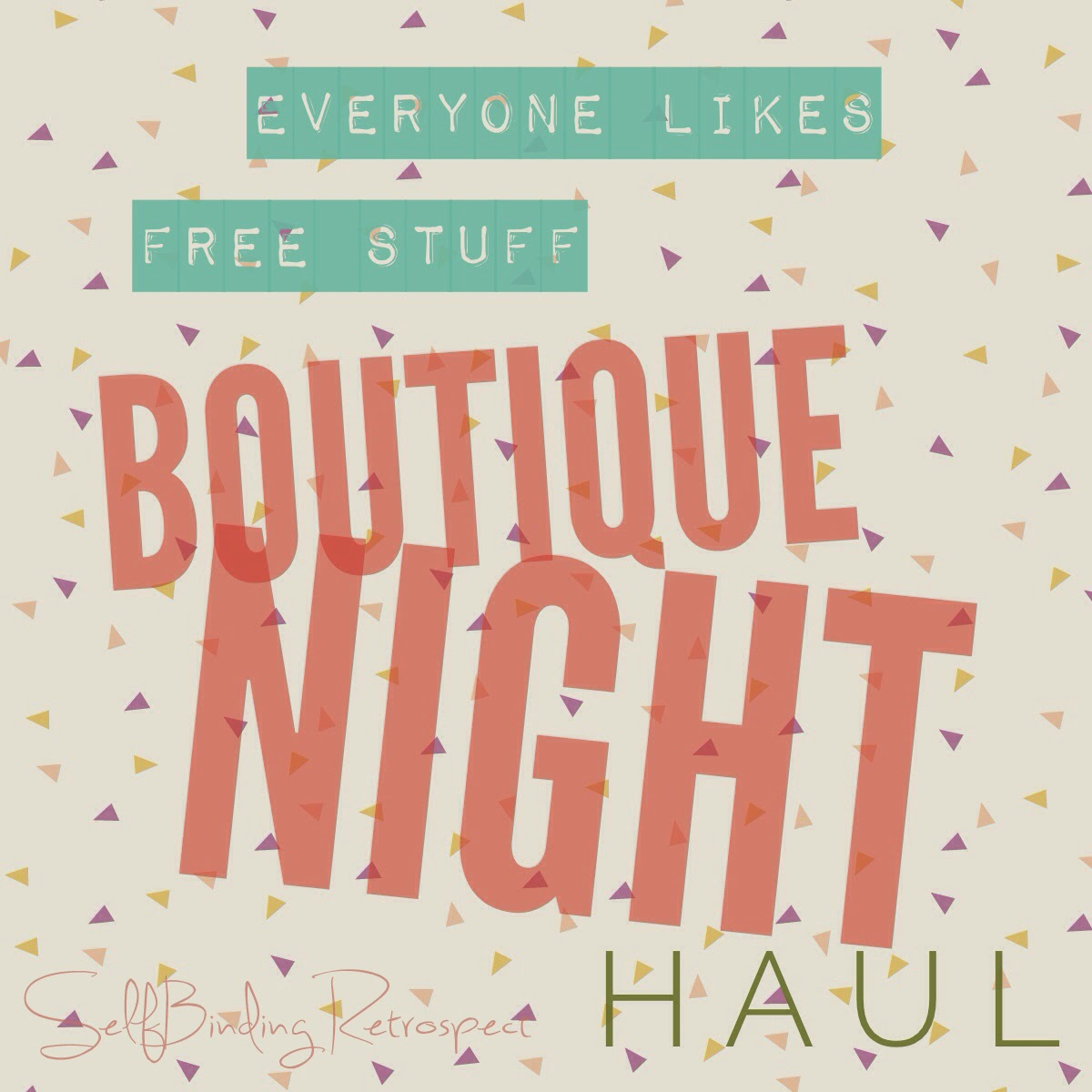 Boutique Night Haul - SelfBinding Retrospect by Alanna Rusnak