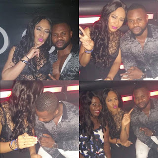 Photos former BBNaija HousematesTboss and Kemen reconcile