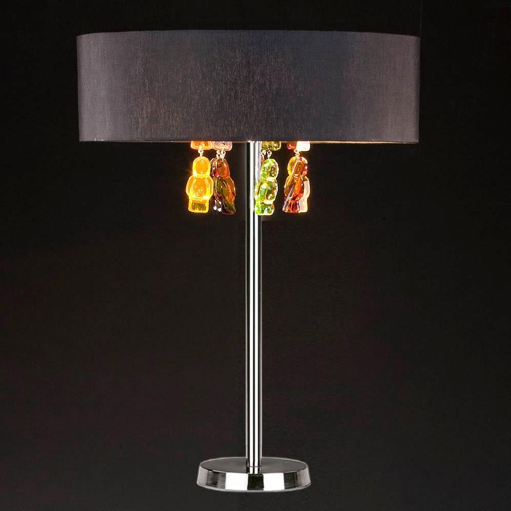 tischleuchten aus glas und kristall design tischleuchte aus glas und chrom jelly babies. Black Bedroom Furniture Sets. Home Design Ideas