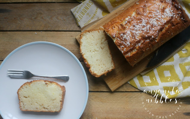 Low FODMAP Coconut Lemon Loaf Cake Recipe