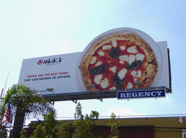 People best thing Midici Pizza billboard