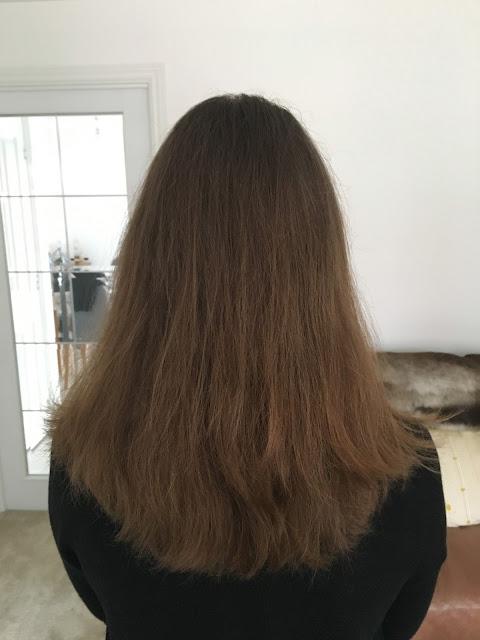 before balayage hair