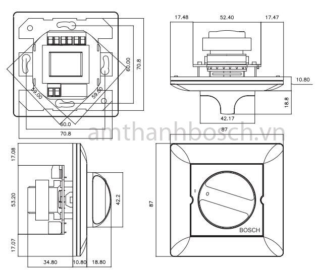 Bộ điều khiển âm lượng Bosch LBC 1410/10